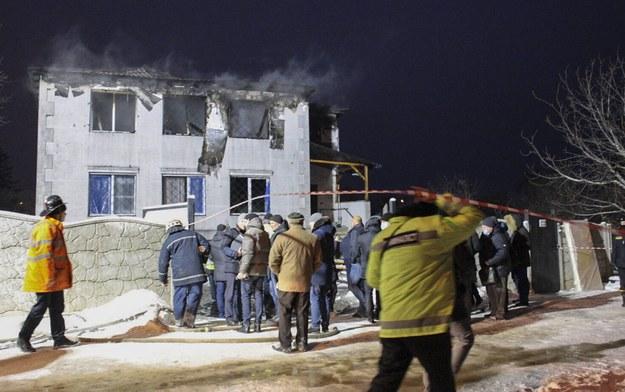 Dom opieki, który spłonął w Charkowie /PAVLO PAKHOMENKO /PAP/EPA