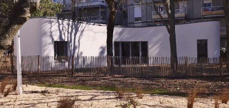 Dom Yhnova - projekt przygotowany przez Uniwersytet w Nantes. Pierwsza rodzina zamieszka w nim w czerwcu. Fot. Uniwersytet w Nantes /materiały prasowe