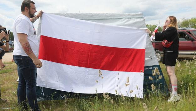 Domagają się m.in. skutecznych sankcji UE wobec władz Białorusi. / Artur Reszko    /PAP