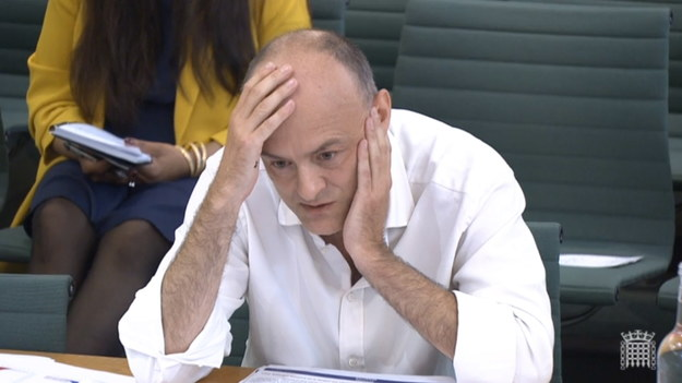Dominic Cummings zeznaje przed komisją /UK PARLIAMENTARY RECORDING UNIT/HANDOUT /PAP/EPA
