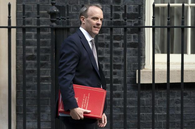 Dominic Raab - szef brytyjskiego MSZ /WILL OLIVER  /PAP/EPA