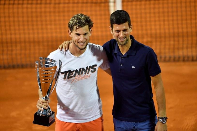 Dominic Thiem i Novak Djoković /AFP