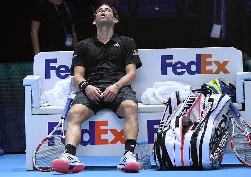 Dominic Thiem po wielkim zwycięstwie /AFP