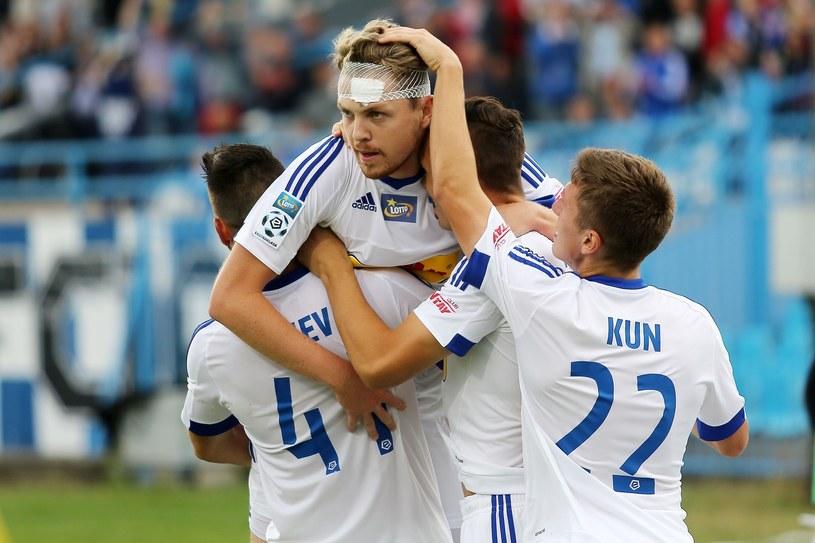 Dominik Furman (przodem) może opuścić Wisłę Płock /Fot. Piotr Matusewicz /East News