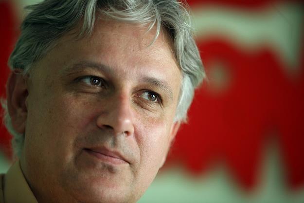 Dominik Kolorz, szef śląsko-dąbrowskiej Solidarności. Fot. Andrzej Wawok /Reporter