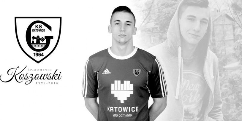 Dominik Koszowski / zdjęcie ze strony oficjalnej GKS-u Katowice /