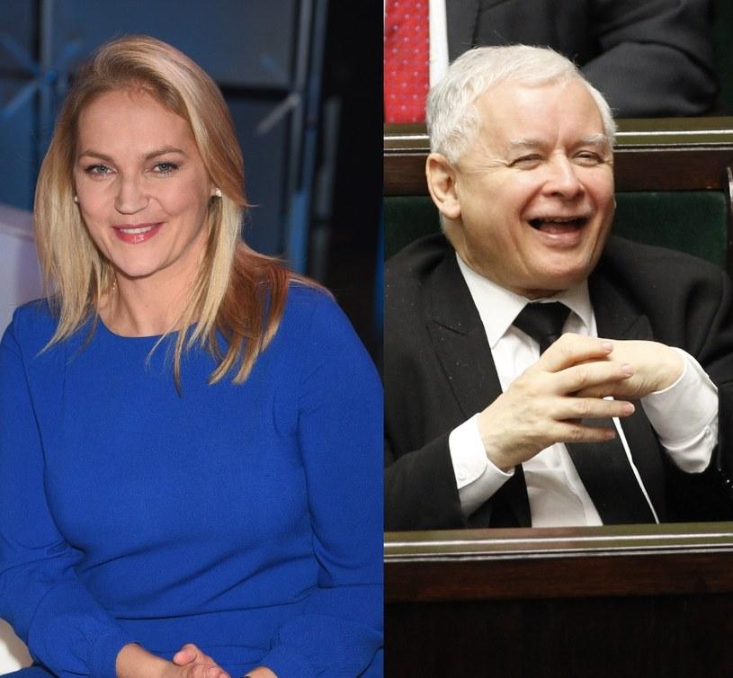 Dominika Figurska i Jarosław Kaczyński /- /East News