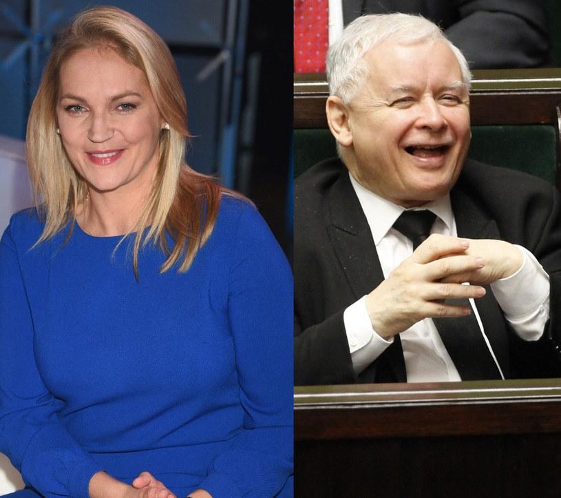 Dominika Figurska i Jarosław Kaczyński /East News