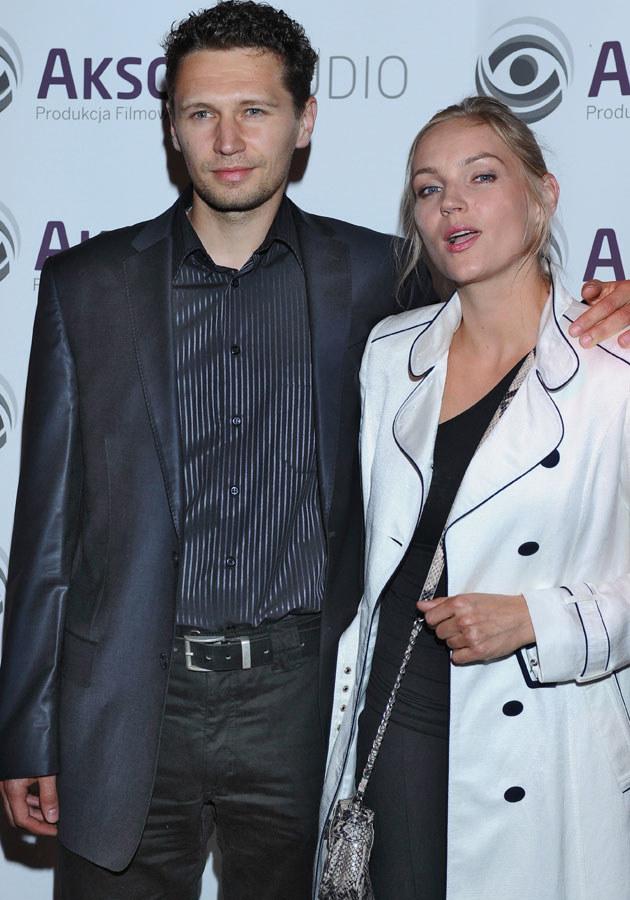 Dominika Figurska z mężem Michałem Chorosińskim /Andras Szilagyi /MWMedia