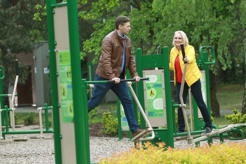 Dominika Figurska z mężem /Artur Hojny/Agencja SE /East News