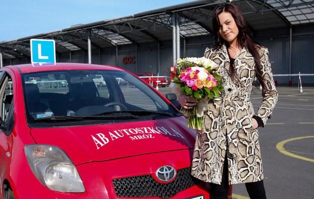 Dominika Gawęda urodzinowy prezent otrzymała na placu manewrowym, fot.Michał Tuliński  /Agencja FORUM