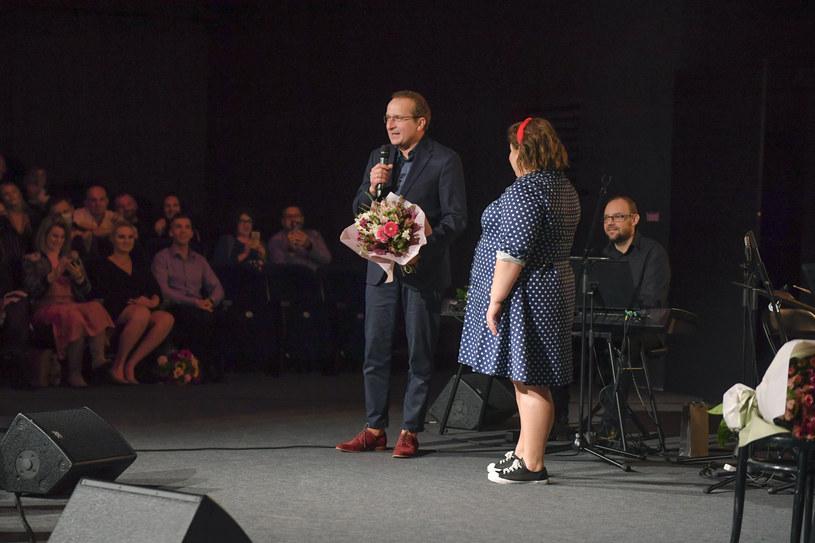 Dominika Gwit i Robert Górski na premierze stand-upu /Gałązka /AKPA