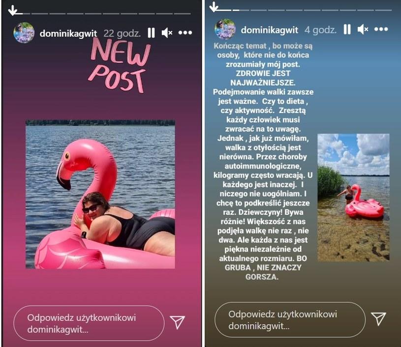 Dominika Gwit odpowiada hejterom /https://www.instagram.com/dominikagwit/ /Instagram