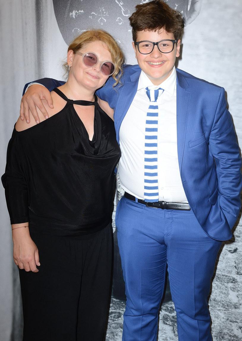 Dominika Ostałowska z synem Hubertem /Jarosław Antoniak /MWMedia
