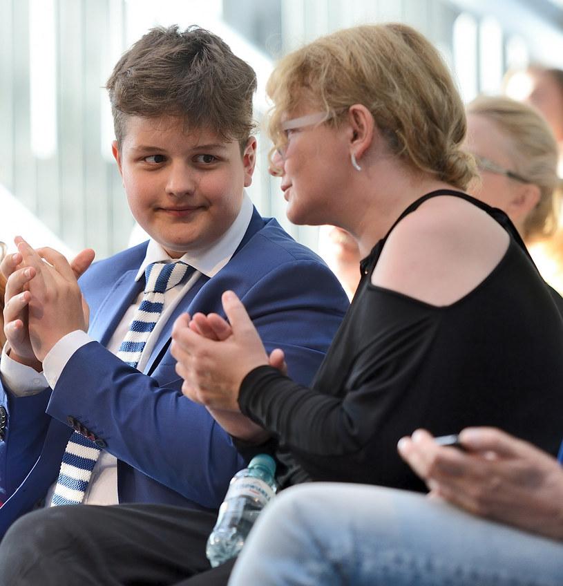 Dominika Ostałowska z synem /- /MWMedia