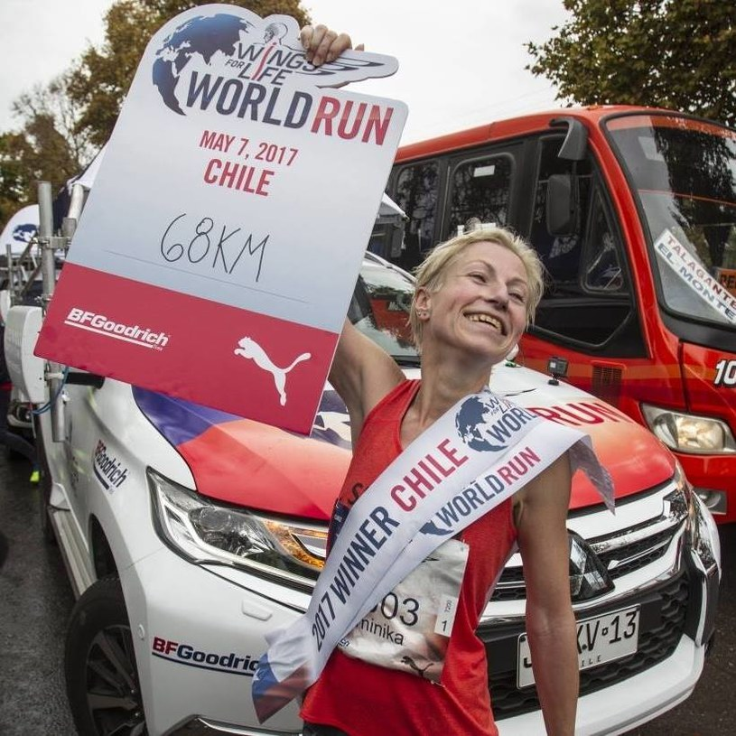 Dominika Stelmach po biegu Wings for Life w Chile/ Źródło: archiwum prywatne zawodniczki /Facebook