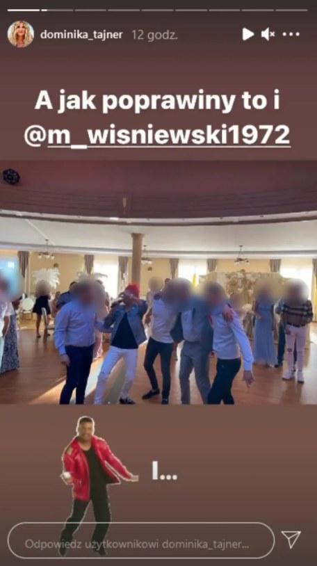 Dominika Tajner i Michał Wiśniewski na jednych poprawinach (Instagram)