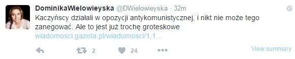 Dominika Wielowieyska na Twitterze /Twitter