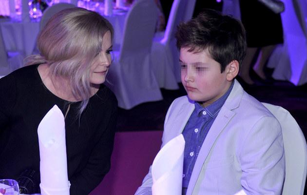 Dominika z synem /- /AKPA