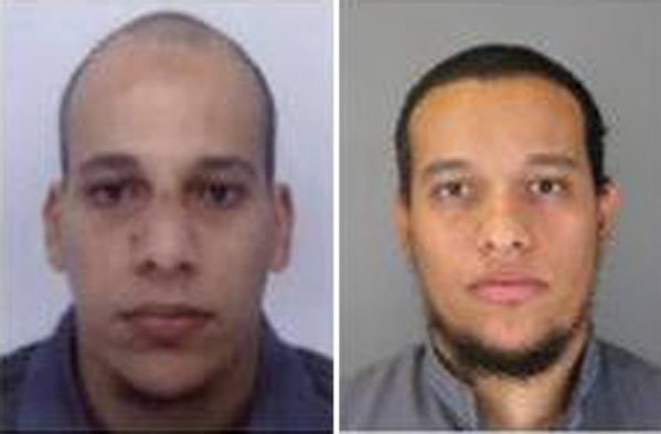 Domniemani terroryści //FRENCH POLICE / HANDOUT /PAP/EPA  /PAP/EPA
