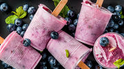Domowe lody jagodowo-śmietankowe