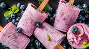 Domowy sorbet jagodowy