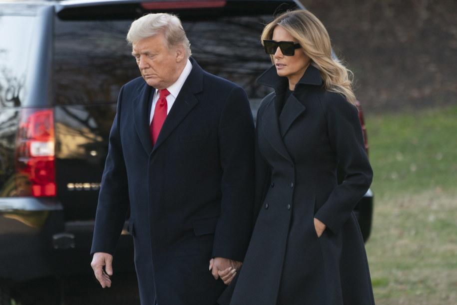 Donald i Melania Trump /CHRIS KLEPONIS / POOL /PAP/EPA
