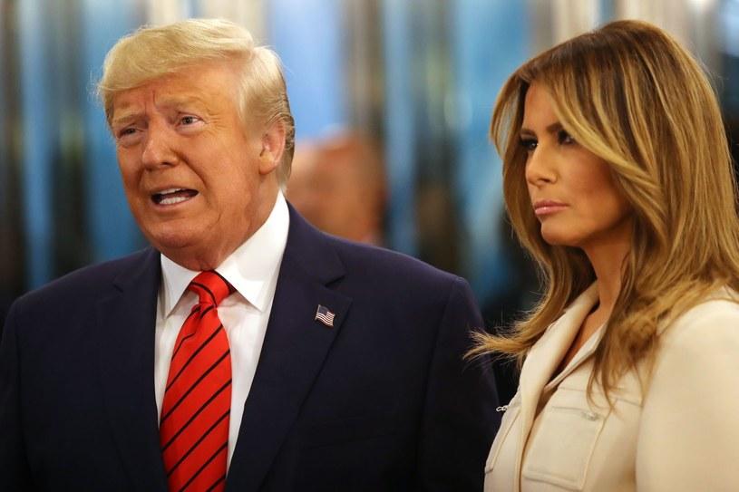 Donald i Melania Trumpowie /Spencer Platt /AFP