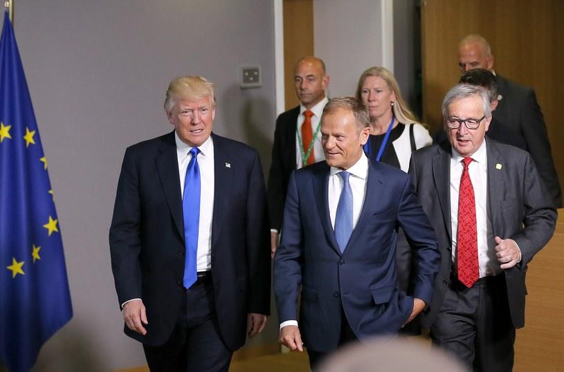 Donald Trump, Donald Tusk, Jean-Claude Juncker /PAP/EPA