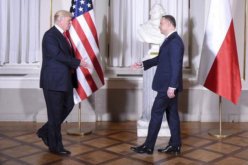 Donald Trump i Andrzej Duda w Warszawie /Zbyszek Kaczmarek /Reporter
