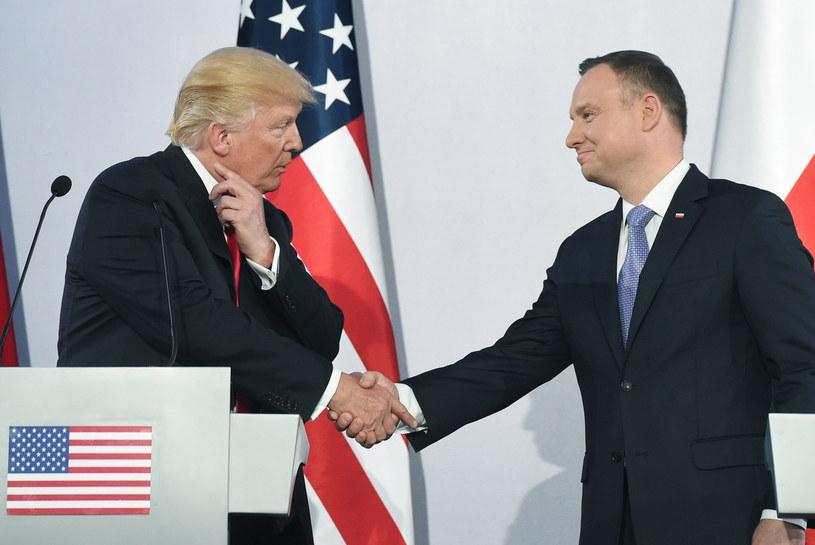 Donald Trump i Andrzej Duda /Radek Pietruszka /PAP