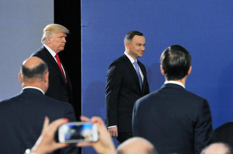 Donald Trump i Andrzej Duda /Wojtek Laski /East News
