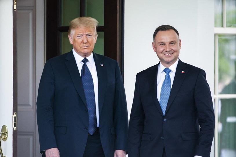Donald Trump i Andrzej Duda /JIM LO SCALZO /PAP/EPA