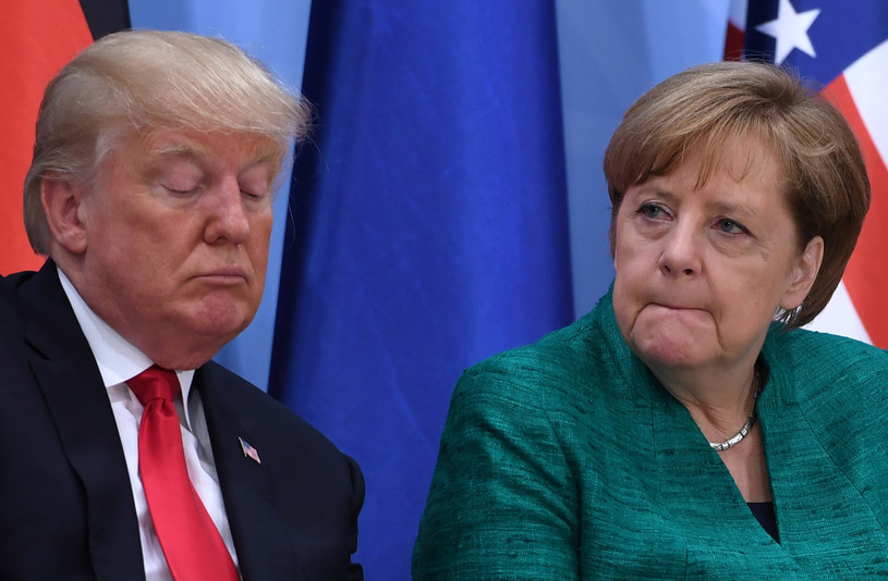 Donald Trump i Angela Merkel /AFP