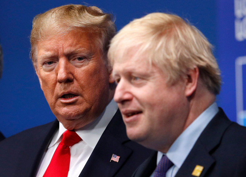 Donald Trump i Boris Johnson /PETER NICHOLLS /East News