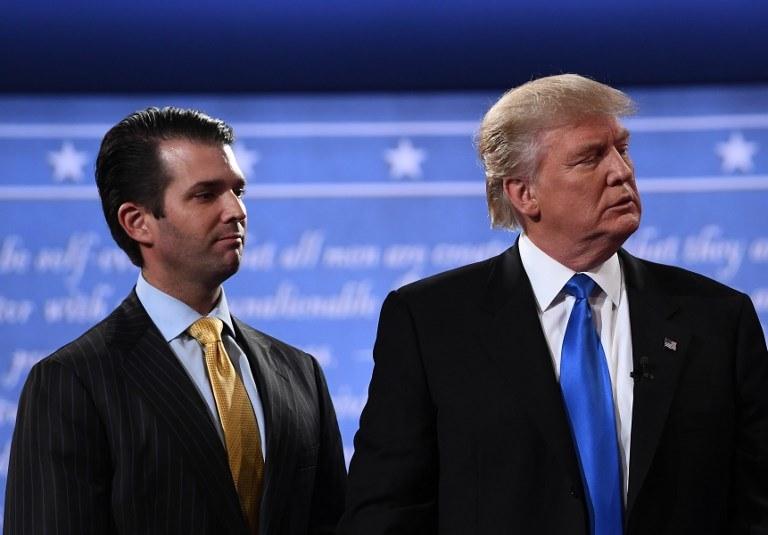 Donald Trump i Donald Trump Jr. /AFP