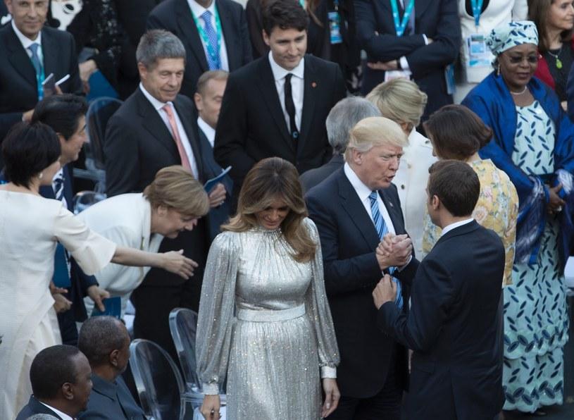Donald Trump i Emmanuel Macron /AFP