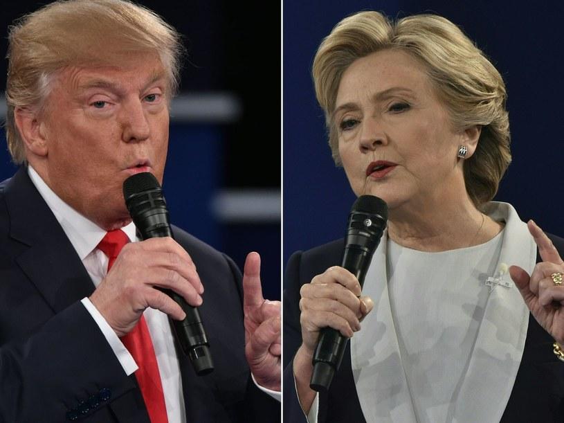 Donald Trump i Hillary Clinton. Kto zostanie prezydentem USA? /AFP