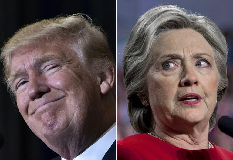 Donald Trump i Hillary Clinton /AFP