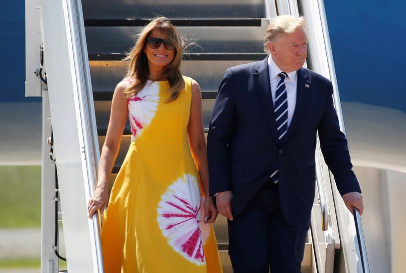 Donald Trump i jego żona Melania Trump /Agencja FORUM