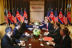 Donald Trump i Kim Dzong Un w Singapurze. Te zdjęcia przejdą do historii