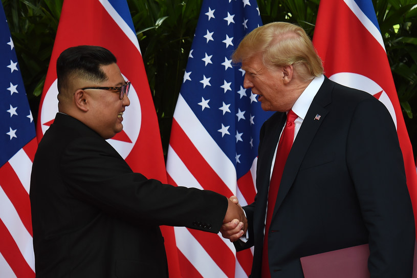 Donald Trump i Kim Dzong Un /Anthony WALLACE / POOL /AFP