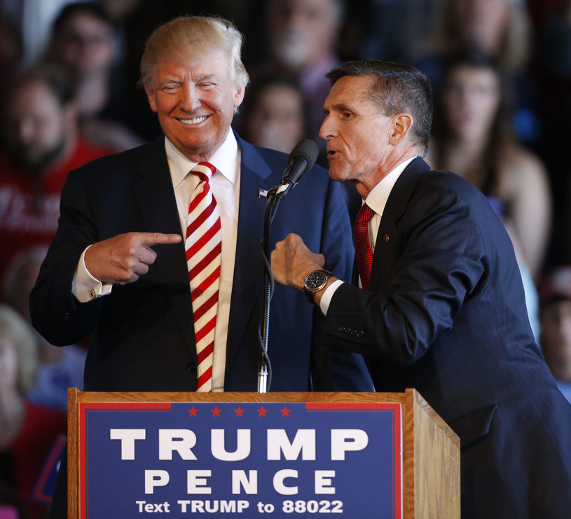 Donald Trump i Michael Flynn /Getty Images