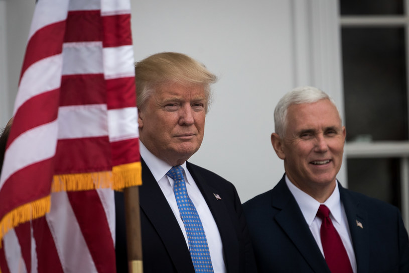 Donald Trump i Mike Pence /Drew Angerer / GETTY IMAGES NORTH AMERICA /AFP