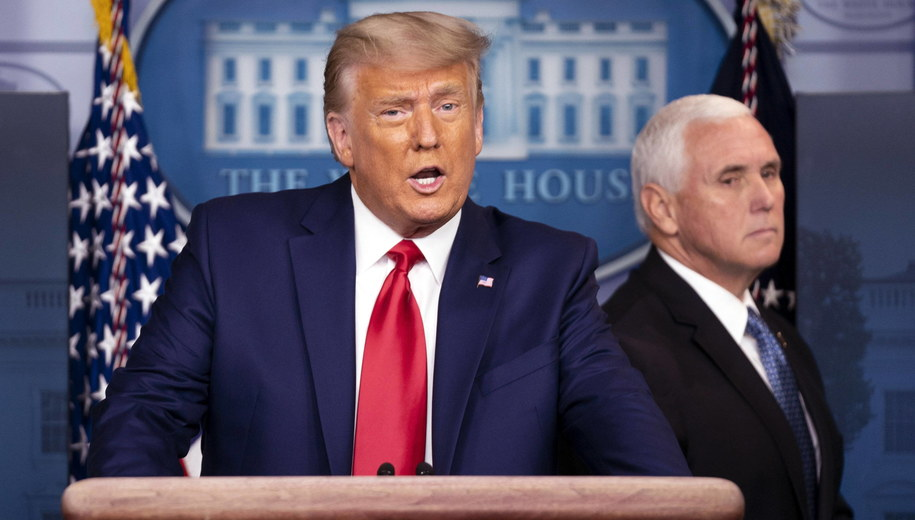Donald Trump i Mike Pence /KEVIN DIETSCH / POOL /PAP/EPA