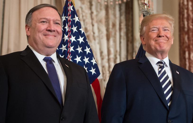 Donald Trump i Mike Pompeo /SAUL LOEB /AFP