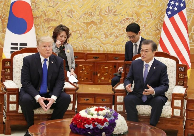 Donald Trump i Mun Dze In /PAP/EPA