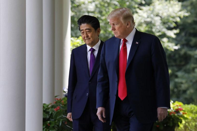 Donald Trump i Shinzo Abe /YURI GRIPAS /PAP/EPA