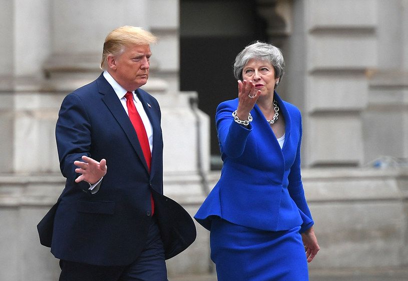 Donald Trump i Theresa May /MANDEL NGAN /  /AFP