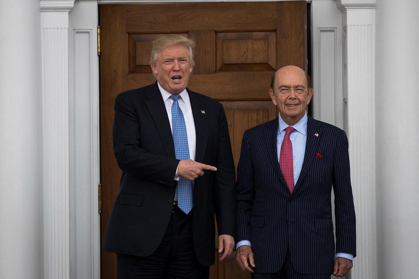 Donald Trump i Wilbur Ross /Drew Angerer;  /Getty Images